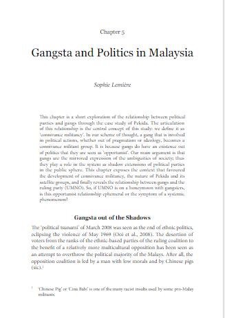 Gangsta & Politics in Malaysia