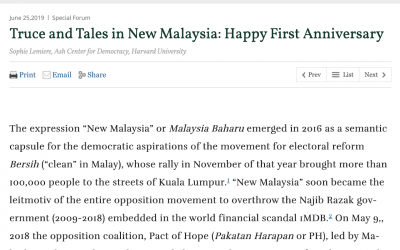 Truce and Tales in New Malaysia: Happy First Anniversary
